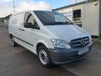 USED 2013 63 MERCEDES-BENZ VITO 116 CDI LWB, 160 BHP [EURO 5], 1 COMPANY OWNER