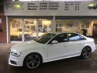 2013 AUDI A4 2.0 TDI S LINE BLACK EDITION 4d 148 BHP £14450.00