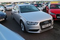USED 2012 12 AUDI A4 2.0 TDI SE 4d AUTO 141 BHP LOW DEPOSIT OR NO DEPOSIT FINANCE AVAILABLE.