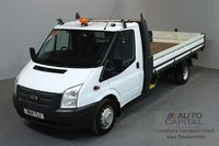 USED 2014 14 FORD TRANSIT 2.2 350 DRW 2d 124 BHP LR EXTRA LWB RWD DROPSIDE LORRY   ONE OWNER FROM NEW