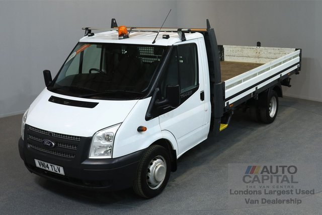 2014 14 FORD TRANSIT 2.2 350 DRW 2d 124 BHP LR EXTRA LWB RWD DROPSIDE LORRY   ONE OWNER FROM NEW