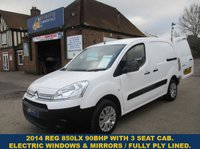 2014 CITROEN BERLINGO 850 L1 LX WITH 3 SEAT CAB & 90BHP ENGINE £5795.00
