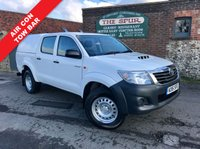USED 2015 15 TOYOTA HI-LUX 2.5 ACTIVE 4X4 D-4D DCB 1d 142 BHP One Owner, Tow Bar, TruckMan Top, Air Con, Service History.