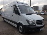 USED 2016 16 MERCEDES-BENZ SPRINTER 314CDI LWB CHILLER WITH STANDBY, 140 BHP [EURO 6], LOW MILES, 1 COMPANY OWNER