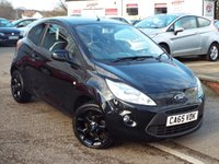 USED 2016 65 FORD KA 1.2 ZETEC BLACK EDITION 3d 69 BHP Only £30 Road Tax