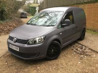 2013 VOLKSWAGEN CADDY 1.6 C20 TDI WRAPPED SATIN GREY, REMAPPED TO 140BHP £8495.00