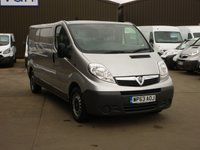 USED 2013 63 VAUXHALL VIVARO 2.0CDTi  2900 ECOFLEX LWB 90 BHP FINANCE AVAILABLE