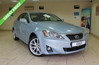 USED 2011 11 LEXUS IS 2.2 200D ADVANCE 4d 148 BHP SALOON SATELLITE NAVIGATION, ELECTRIC FOLDING MIRRORS, ELECTRIC FRONT SEATS WITH LUMBAR SUPPORT, CRUISE CONTROL, FRONT AND REAR PARKING AID,