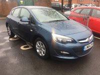 USED 2014 64 VAUXHALL ASTRA 1.6 DESIGN 5d AUTO 115 BHP EXCELLENT FUEL ECONOMY!..FULL HISTORY(2 SERVICES AT 2 MAIN DEALERS).. ONLY 9455 MILES!..WITH PARKING SENSORS, ALLOY WHEELS, AND AIR CONDITIONING!!