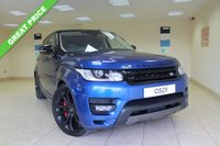 USED 2017 66 LAND ROVER RANGE ROVER SPORT 4.4 SDV8 AUTOBIOGRAPHY DYNAMIC 5d AUTO 339 BHP SATELLITE NAVIGATION, FRONT AND REAR PRIVACY GLASS, XENONS, ELECTRIC SLIDING PANORAMIC ROOF, 21 INCH BLACK ALLOYS, BLACK ROOF, ONLY 10,000 MILES, ONE OWNER, TOO MUCH SPEC TO LIST