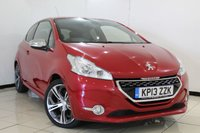 USED 2013 13 PEUGEOT 208 1.6 THP GTI 3DR 200 BHP SERVICE HISTORY + HALF LEATHER SEATS + SAT NAVIGATION + BLUETOOTH + PARKING SENSOR + CRUISE CONTROL + MULTI FUNCTION WHEEL + AUXILIARY PORT + 17 INCH ALLOY WHEELS