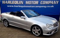 USED 2007 57 MERCEDES-BENZ CLK 1.8 CLK200 KOMPRESSOR SPORT 2d AUTO 181 BHP 2007 57 NEW MODEL MERCEDES CLK 200K SPORT AUTOMATIC CONVERTIBLE IN METALLIC SILVER WITH BLACK SPORTS LEATHER INTERIOR AIR CON AMG ALLOYS CRUISE ELECTRIC CONVERTIBLE ROOF FULL SERVICE HISTORY FRONT AND REAR PDC