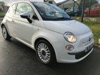 2010 FIAT 500 1.2 LOUNGE white panroof 38000 miles previously sold by ourselves  £4495.00