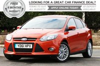 2012 FORD FOCUS 1.6 ZETEC TDCI 5d 113 BHP £SOLD