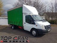 2011 FORD TRANSIT 350 2.4 140 BHP NO VAT 14.5 FT CURTAINSIDER, TAIL LIFT  £6995.00
