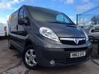 USED 2014 63 VAUXHALL VIVARO SWB 2.0 2700 CDTI SPORTIVE 113 BHP 1 OWNER FSH NEW MOT  FREE AA WARRANTY WITH RECOVERY AND ASSIST NEW MOT AIR CONDITIONING 6 SPEED BLUETOOTH ELECTRIC WINDOWS AND MIRRORS REAR PARKING SENSORS