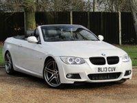 2013 BMW 3 SERIES 3.0 330D M SPORT 2d 242 BHP CONVERTIBLE AUTO £SOLD