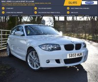 USED 2010 59 BMW 1 SERIES 2.0 116D M SPORT 3d 114 BHP 70,975 MILES, FULL SERVICE HISTORY, ONLY £30 TAX, REAR PARKING SENSORS, DUAL ZONE CLIMATE CONTROL, BLACK CLOTH HEADLINING + MUCH MORE!