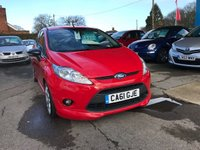 USED 2012 61 FORD FIESTA 1.6 ZETEC S 3d 118 BHP NEED FINANCE? WE STRIVE FOR 94% ACCEPTANCE
