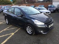 USED 2013 63 PEUGEOT 208 1.4 ACTIVE HDI 5d 68 BHP PRICE INCLUDES A 6 MONTH AA WARRANTY DEALER CARE EXTENDED GUARANTEE, 1 YEARS MOT AND A OIL & FILTERS SERVICE. THIS CARS COMES WITH 6 MONTH BREAKDOWN COVER