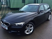 USED 2013 63 BMW 3 SERIES 2.0 320D SPORT TOURING 5d 181 BHP AIR CON ALLOYS FSH NO FINANCE REPAYMENTS FOR 2 MONTHS STC. FACELIFT MODEL. STUNNING BLACK MET WITH BLACK CLOTH SPORTS TRIM. CRUISE CONTROL. 17 INCH ALLOYS. COLOUR CODED TRIMS. PARKING SENSORS. ELECTRIC TAILGATE. BLUETOOTH PREP. AIR CON. R/CD PLAYER. 6 SPEED MANUAL. MFSW. MOT 09/18. ONE PREV OWNER. SERVICE HISTORY. FCA FINANCE APPROVED DEALER. TEL 01937 849492