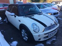 2004 MINI HATCH COOPER 1.6 COOPER 3d 114 BHP CHILLI PACK  INCLUDING AIR CONDITIONING AND HALF LEATHER SEATS £2495.00