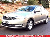 USED 2013 13 SKODA RAPID 1.2 SE TSI 5d 104 BHP 1 OWNER, FULL SERVICE HISTORY,  MOTAPR 19, ALLOYS, AIR CON, CRUISE, BLUETOOTH, E/WINDOWS, FREE WARRAMTY, FINANCE AVAILABLE, HPI CLEAR, PART EXCHANGE WELCOME
