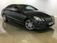 USED 2012 12 MERCEDES-BENZ E CLASS 2.1 E220 CDI BLUEEFFICIENCY SPORT 2d 170 BHP Full Black Leather/Bluetooth