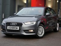 USED 2014 64 AUDI A3 SPORTBACK 1.6 TDI SE TECHNIK 5d 110 S/S SAT NAV, REAR ACOUSTIC PARKING SENSORS, CRUISE CONTROL, DAB DIGITAL RADIO, BLUETOOTH PHONE & MUSIC STREAMING, AUDI MUSIC INTERFACE FOR IPOD/USB DEVICES (AMI), LEATHER MULTIFUNCTION STEERING WHEEL, AIR CONDITIONING, CD HIFI WITH 2x SD CARD READERS, 1 OWNER FROM NEW, FULL AUDI SERVICE HISTORY, £0 ROAD TAX (99 G/KM)