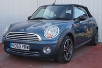 USED 2010 60 MINI CONVERTIBLE 1.6 ONE 2d 98 BHP FULL SERVICE HISTORY