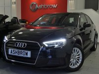 USED 2016 66 AUDI A3 SPORTBACK 2.0 TDI SE TECHNIK NAV 5d 150 S/S NEW SHAPE / FACE LIFT MODEL, SAT NAV, LED DAYTIME RUNNING LIGHTS, XENON HEADLIGHTS, REAR ACOUSTIC PARKING SENSORS, CRUISE CONTROL, DAB DIGITAL RADIO, BLUETOOTH PHONE & MUSIC STREAMING, WIFI, AUDI CONNECT, AUX INPUT, 2x USB PORTS, AUTO LIGHTS & WIPERS,  LEATHER MULTIFUNCTION STEERING WHEEL, CD HIFI WITH 2x SD CARD READERS & SIM CARD READER, AIR CON, 1 OWNER FROM NEW, FULL SERVICE HISTORY, BALANCE OF MANUFACTURERS WARRANTY, £20 ROAD TAX