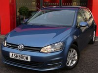 USED 2014 64 VOLKSWAGEN GOLF 1.6 TDI BLUEMOTION 5d 110 S/S BLUETOOTH PHONE & MUSIC STREAMING, DAB RADIO, MANUAL 6 SPEED GEARBOX, START STOP TECHNOLOGY, 15 INCH 10 SPOKE ALLOYS, GREY CLOTH INTERIOR, FLAT BOTTOM STEERING WHEEL, AIR CONDITIONING, MDI INPUT FOR IPOD / USB DEVICES, AUTO HILL HOLD, FRONT CENTRE ARM REST, CD HIFI WITH SD CARD READER, ELECTRIC WINDOWS, ELECTRIC HEATED DOOR MIRRORS, REMOTE CENTRAL LOCKING, ISO FIX, FOLDING REAR SEATS.  1 OWNER FROM NEW, FULL VW SERVICE HISTORY, £0 ROAD TAX (85 G/KM), VAT QUALIFYING.