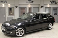 USED 2011 11 BMW 3 SERIES 2.0 318D EXCLUSIVE EDITION TOURING 5d 141 BHP FULL BLACK LEATHER SEATS + BMW SERVICE HISTORY + REAR PARKING SENSORS + 18 INCH ALLOYS + AUTOMATIC AIR CONDITIONING + DRL'S + RAIN SENSORS
