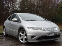 USED 2007 07 HONDA CIVIC 1.8 I-VTEC TYPE-S 3d 139 BHP FULL SERVICE HISTORY, MOT OCT 2018