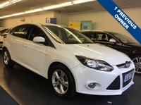 USED 2013 13 FORD FOCUS 1.6 ZETEC 5d AUTO 124 BHP FULL SERVICE HISTORY, 1 PREVIOUS OWNER FROM NEW