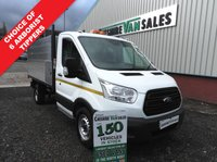 USED 2016 16 FORD TRANSIT 2.2 350 L3  125 BHP ARB TIPPER CHOICE STILL IN FORD WARRANTY HI SIDE TIPPER  LARGE CHOICE OF TIPPERS IN STOCK OPEN 7 DAYS