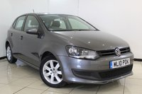 USED 2010 10 VOLKSWAGEN POLO 1.4 SE DSG 5DR AUTOMATIC 85 BHP FULL SERVICE HISTORY + AIR CONDITIONING + ELECTRIC WINDOWS + ELECTRIC MIRRORS + 15 INCH ALLOY WHEELS