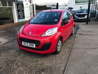 USED 2013 13 PEUGEOT 107 1.0 ACCESS 3d 68 BHP Zero £££ Road Tax-Main Dealer Service History-65 MPG