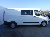 USED 2014 64 FORD TRANSIT CUSTOM 2.2 290 TREND LR DCB 1d 124 BHP LONG WHEEL BASE  6 SEATER CREW VAN WITH VOICE ACTIVATED BLUETOOTH PHONE SYSTEM