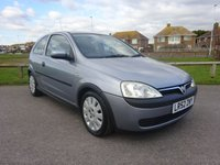2003 VAUXHALL CORSA 1.0 ACTIVE 12V 3d 58 BHP, SILVER, 1 OWNER £1995.00