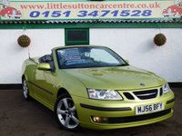 USED 2006 56 SAAB 9-3 2.0 VECTOR T 2d AUTO 150 BHP AUTOMATIC CONVERTIBLE, FULL LEATHER, FULL SERVICE HISTORY