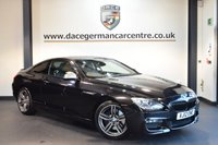 USED 2012 12 BMW 6 SERIES 3.0 640D M SPORT 2DR 309 BHP + FULL BLACK LEATHER INTERIOR + PRO SATELLITE NAVIGATION + HEATED SPORT SEATS + HIFI SPEAKER SYSTEM + PARKING SENSORS + 19 INCH ALLOY WHEELS +