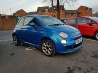 USED 2014 14 FIAT 500 1.2 S 3d 69 BHP TFT DASH DISPLAY AND HIGH SPEC!..EXCELLENT FUEL ECONOMY!..LOW CO2 EMISSIONS..£30 TAX!..8252 MILES FROM NEW!..WITH AIR CONDITIONING, BLUETOOTH, MEDIA ,LEATHER TRIM, TRACTION CONTROL , IPOD CONNECTIVITY AND STOP/START!