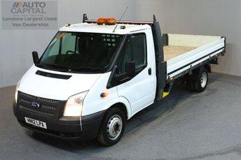 2012 FORD TRANSIT 2.2 350 DRW 2d 124 BHP LR EXTRA LWB RWD DROPSIDE LORRY   £7490.00