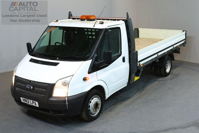 2012 12 FORD TRANSIT 2.2 350 DRW 2d 124 BHP LR EXTRA LWB RWD DROPSIDE LORRY   2 OWNER FROM NEW