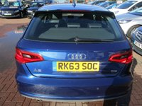 USED 2013 63 AUDI A3 1.6 TDI S LINE 5d 104 BHP ***BUY FOR ONLY £33 A WEEK, FINANCE
