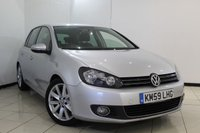 USED 2009 59 VOLKSWAGEN GOLF 2.0 GT TDI 5DR 138 BHP FULL SERVICE HISTORY + AIR CONDITIONING + MULTI FUNCTION WHEEL + RADIO/CD + ELECTRIC/HEATED MIRRORS + 17 INCH ALLOY WHEELS