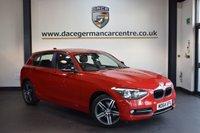 USED 2015 64 BMW 1 SERIES 2.0 116D SPORT 5DR 114 BHP + SATELLITE NAVIGATION + FULL SERVICE HISTORY + BLUETOOTH + SPORT SEATS + DAB RADIO + RAIN SENSORS + 17 INCH ALLOY WHEELS +