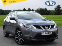 USED 2015 64 NISSAN QASHQAI 1.6 DCI TEKNA 5d 128 BHP A popular 1 owner 2015 Nissan Qashqai 1.6 dci TEkna 5dr in grey metallic with a black full leather interior. Complete with records for 2 main dealer services and 2 keys.