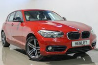 2015 BMW 1 SERIES 2.0 118D SPORT 5d 147 BHP £12490.00